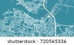 detailed vector map of aalborg  ... | Shutterstock .eps vector #720565336