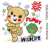 funny cartoon  little bear... | Shutterstock .eps vector #720567832