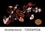 stock vector abstract hand draw ... | Shutterstock .eps vector #720569536