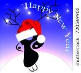 abstract deer happy new year | Shutterstock .eps vector #720569902