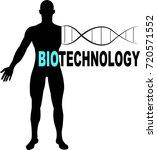 biotechnology word logo...   Shutterstock .eps vector #720571552