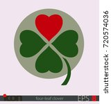 four leaf clover with a heart...   Shutterstock .eps vector #720574036