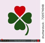 four leaf clover with a heart... | Shutterstock .eps vector #720574048