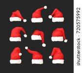 hand drawn set of christmas... | Shutterstock .eps vector #720575992
