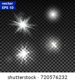 set of glowing light effects... | Shutterstock .eps vector #720576232
