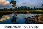 landscape  sunset nam  sang ... | Shutterstock . vector #720579682