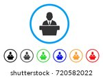 reporter rounded icon. style is ... | Shutterstock .eps vector #720582022