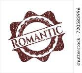 red romantic distress grunge...   Shutterstock .eps vector #720583996