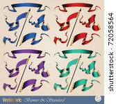 abstract banners ready for...   Shutterstock .eps vector #72058564
