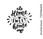 hand drawn lettering with... | Shutterstock .eps vector #720586606