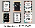 collection of elegant shiny... | Shutterstock .eps vector #720590455