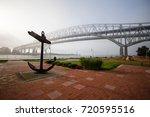 downtown port huron waterfront. ... | Shutterstock . vector #720595516