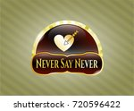 gold badge or emblem with love ...   Shutterstock .eps vector #720596422