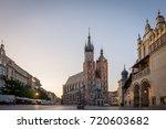 sunrise over the main square in ... | Shutterstock . vector #720603682