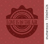 love is in the air red emblem....   Shutterstock .eps vector #720604126