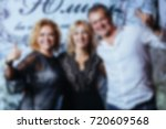 blur people eating and talking...   Shutterstock . vector #720609568