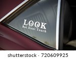 detail of classic custom... | Shutterstock . vector #720609925