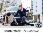 full length view of a worried... | Shutterstock . vector #720620662