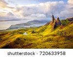 Old Man of Storr rock formation, Isle of Skye, Scotland.