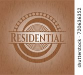 residential badge with wood... | Shutterstock .eps vector #720636352