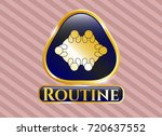 shiny badge with business... | Shutterstock .eps vector #720637552