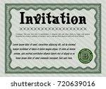green retro invitation. elegant ...   Shutterstock .eps vector #720639016