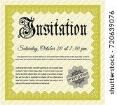 yellow invitation. money style...   Shutterstock .eps vector #720639076