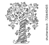 pattern for coloring book.... | Shutterstock .eps vector #720640405
