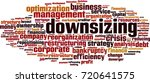 downsizing word cloud concept.... | Shutterstock .eps vector #720641575