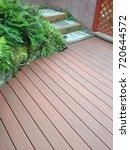 artificial wood deck | Shutterstock . vector #720644572
