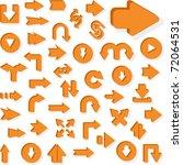 set of arrows. vector...   Shutterstock .eps vector #72064531