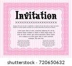 pink retro invitation....   Shutterstock .eps vector #720650632