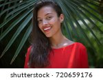 young cute brazilian girl... | Shutterstock . vector #720659176