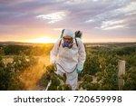 weed control. industrial... | Shutterstock . vector #720659998