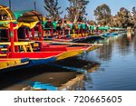 traditional mexican trajinera...   Shutterstock . vector #720665605