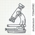 doodle microscope | Shutterstock .eps vector #720669082