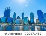 urban landscape of perth... | Shutterstock . vector #720671452
