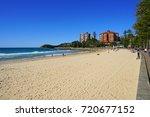 manly  australia  6 aug 2017 ... | Shutterstock . vector #720677152