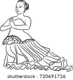 vector art drawing of thai... | Shutterstock .eps vector #720691726