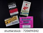 an image of 4 concert ticket... | Shutterstock . vector #720694342
