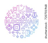 blockchain technology colorful... | Shutterstock .eps vector #720701968