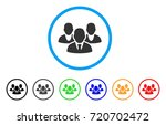 staff rounded icon. style is a... | Shutterstock .eps vector #720702472