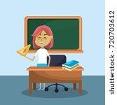 teacher woman and creative... | Shutterstock .eps vector #720703612