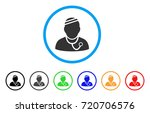 sick physician rounded icon.... | Shutterstock .eps vector #720706576