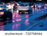 car traffic driving in fast...   Shutterstock . vector #720708466