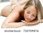 young blond woman having... | Shutterstock . vector #720709876