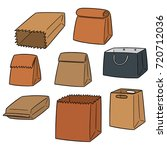 vector set of paper bag | Shutterstock .eps vector #720712036