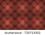 flat flower elements design.... | Shutterstock . vector #720713302
