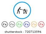 medical drugs buyer cart... | Shutterstock .eps vector #720713596