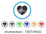 cardio pulse rounded icon.... | Shutterstock .eps vector #720719632